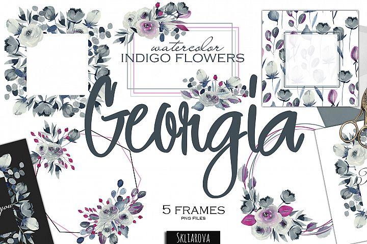 Georgia. Indigo 5 frames