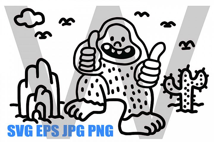 Snowman - Yeti Like - SVG/EPS/JPG/PNG