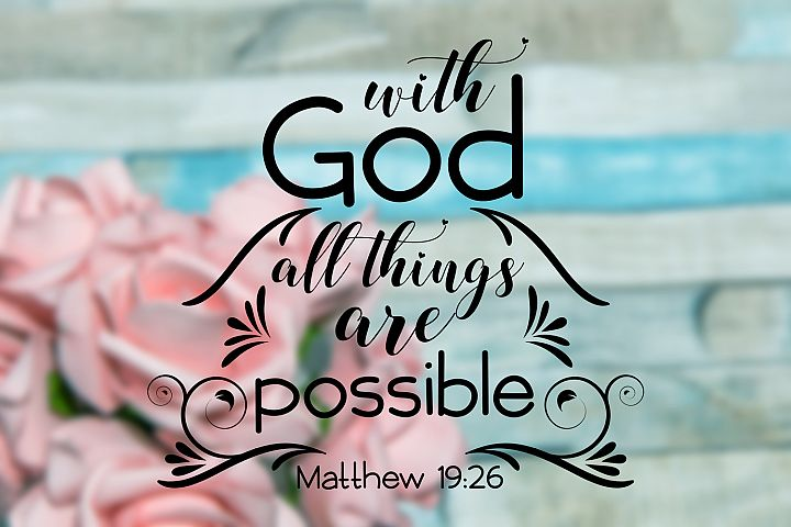 Whit God All Things Are Possible,Christian Svg Bundl,Rel