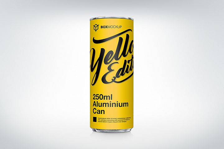 250ml Aluminum Can PSD Mockup