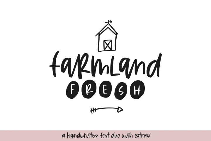 Farmland Fresh - A Font Duo with Doodles