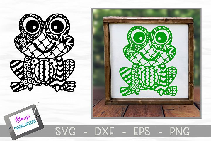 Frog SVG with Doodle patterns