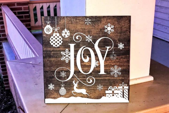 Joy - Christmas SVG Cut File
