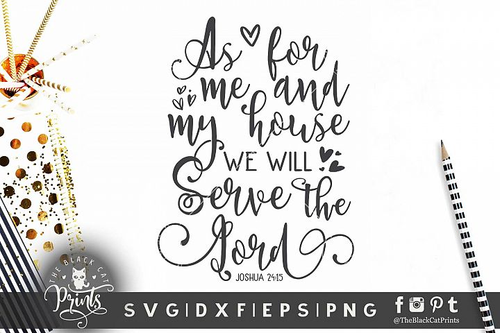 As for me and my house SVG DXF EPS PNG