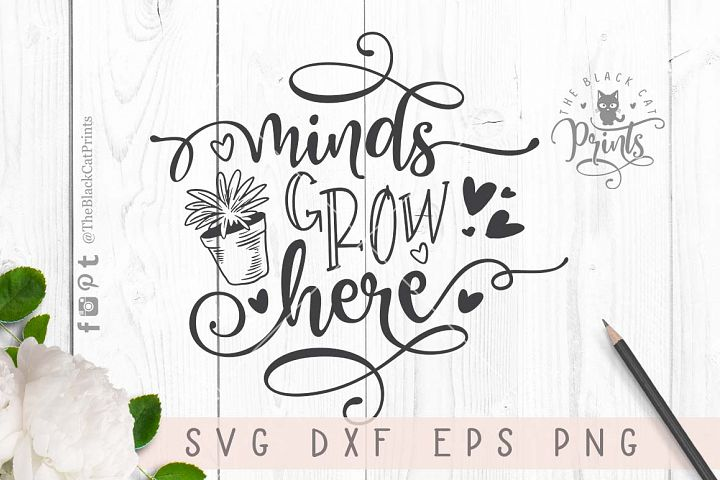 Minds grow here SVG DXF PNG EPS