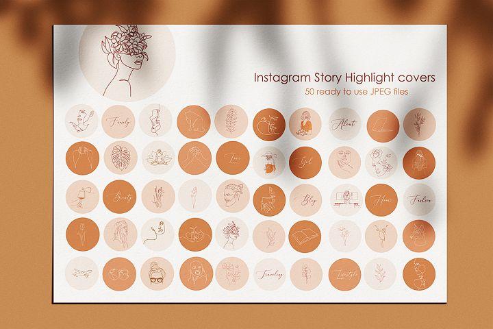 Instagram Story Highlight Icons - Hand Drawn boho Instagram