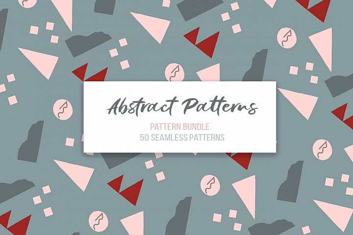 Abstract vector patterns. Big geometric collection, seamless