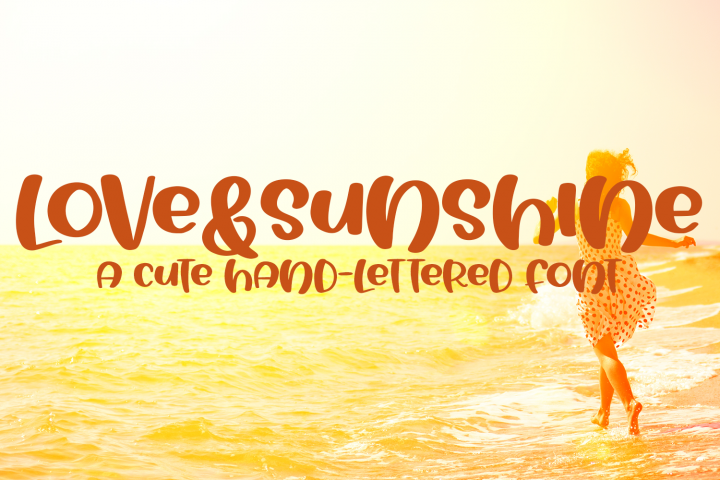 Love&Sunshine - A Cute Hand-Lettered Bold Font