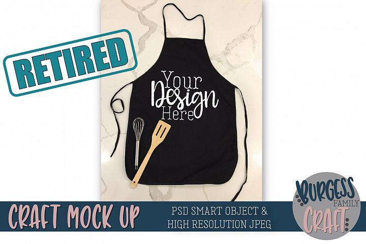 Black apron Mock up |High Resolution JPEG