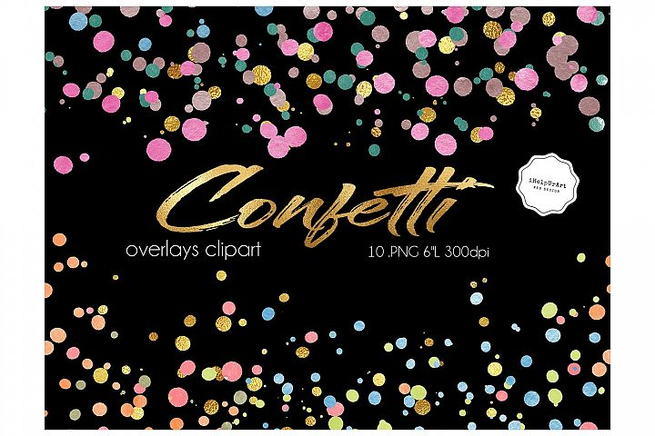 Colorful Confetti Clipart