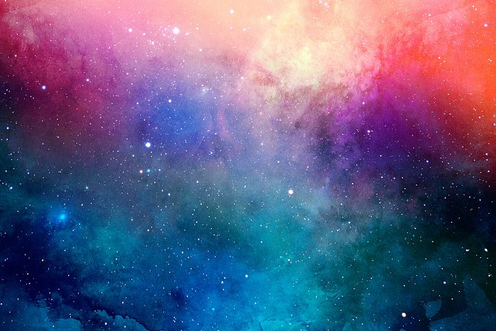 Space Watercolor Backgrounds - Free Design of The Week Design 3