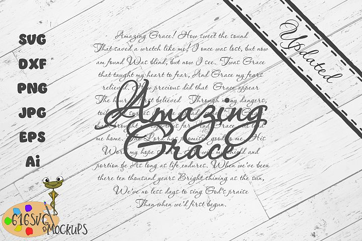 Amazing Grace Hymn Laser Designed SVG