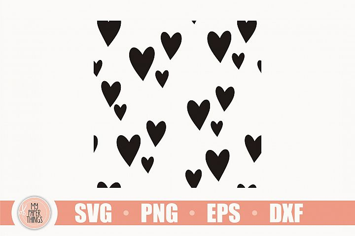 Heart Seamless Pattern SVG Bundle, Heart svg