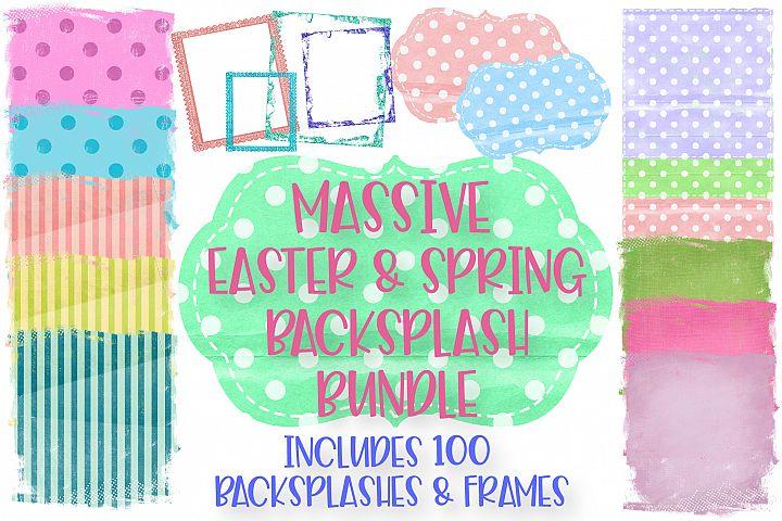 Easter and Spring Sublimation Background Bundle, Frames