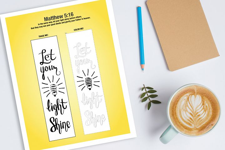Let your light shine - Bible journaling printable