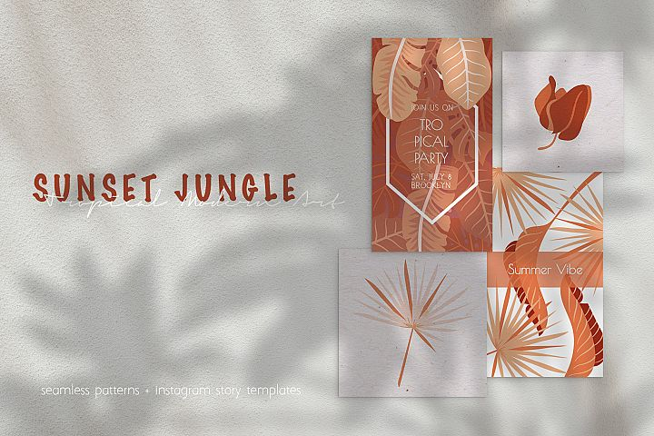 Sunset Jungle Templates