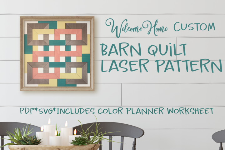Modern Farmhouse Barn Quilt SVG for Laser Cut file