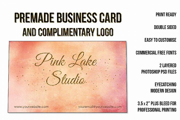 Blush, Apricot and Gold Glitter Business Card Template example 7