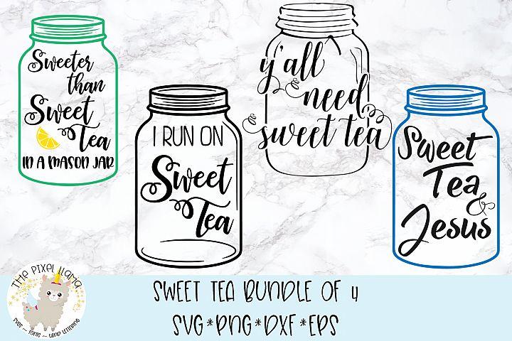 Sweet Tea Bundle 4 Files SVG Cut File