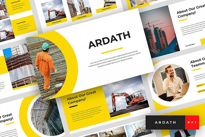 Ardath - Construction PowerPoint Template