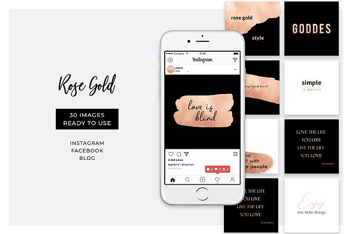 Instagram quotes - 30 Rose Gold posts