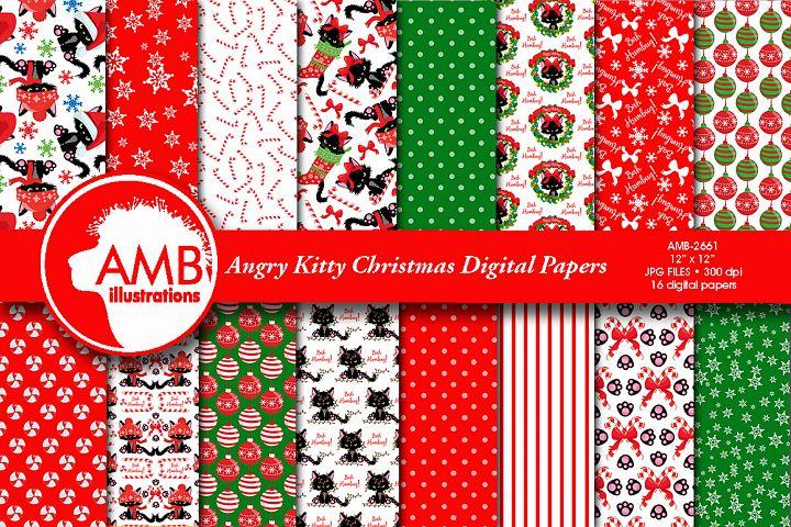 ANGRY KITTY CHRISTMAS PAPERS AMB-2663