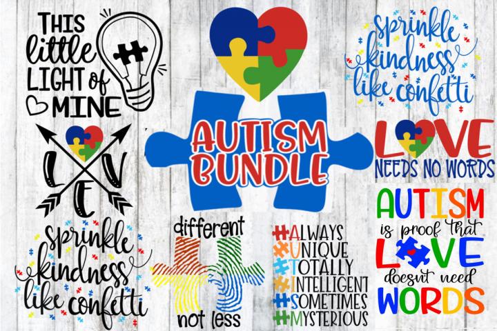 Autism Bundle - 8 Designs - Autism Awareness - SVG PNG EPS
