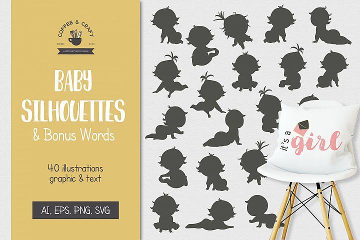 Baby Silhouettes & Bonus Words