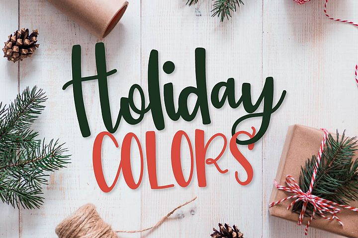 Holiday Colors - A Script & Print Font TRIO for Christmas!
