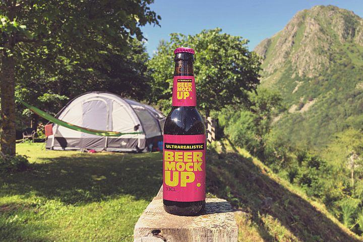 Camping Beer Mockup