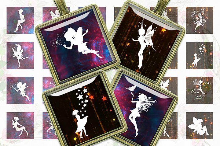 Fairies Silhouettes,Digital Collage Sheet,Fairies,Fairies