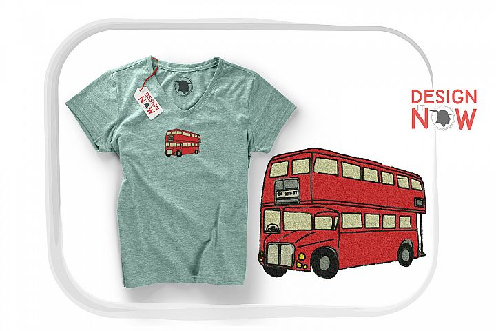 Bus Embroidery Design, Bus Embroidery Pattern