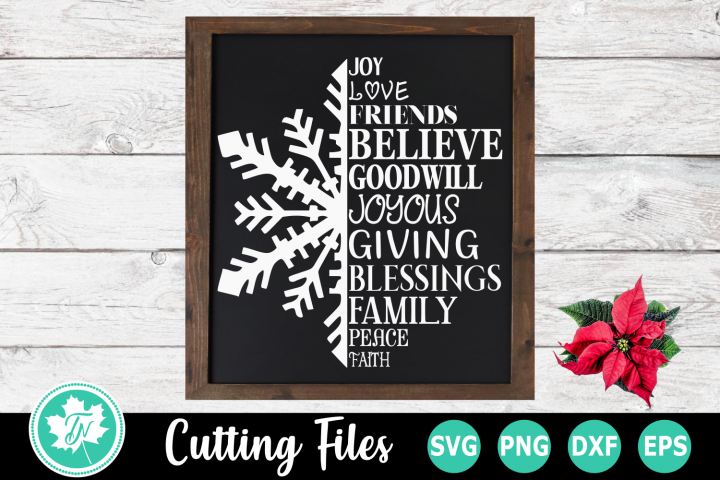 Snowflake Words - A Christmas SVG Cut File