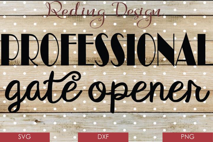 Professional Gate Opener- SVG DXF PNG Digital Cut File