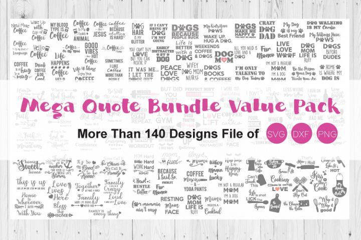 Mega Quote Value Pack Bundle Quote SVG Bundle Cut Files
