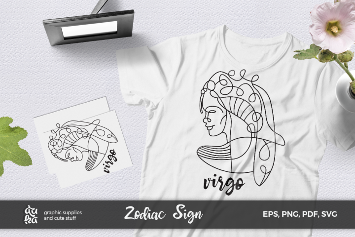 Zodiac Sign SVG Cut Files- Virgo