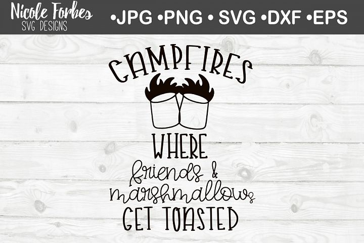 Marshmallows & Friends Get Toasted SVG Cut File