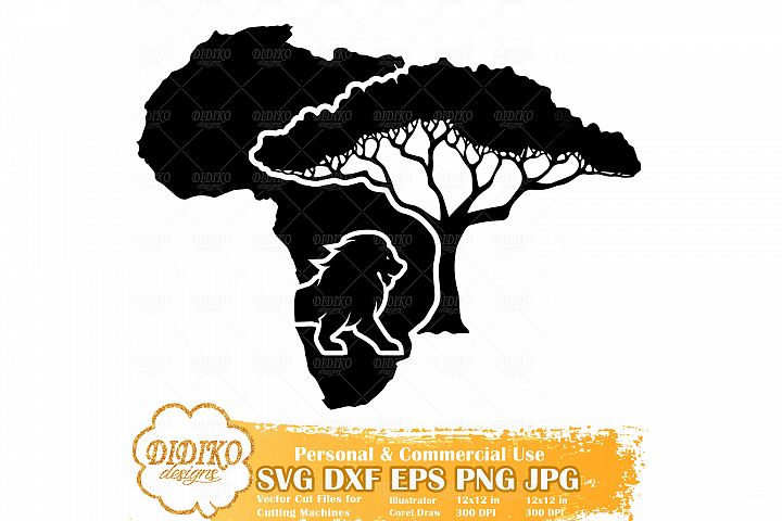 African Savanna | Africa Map SVG | Black History Month SVG