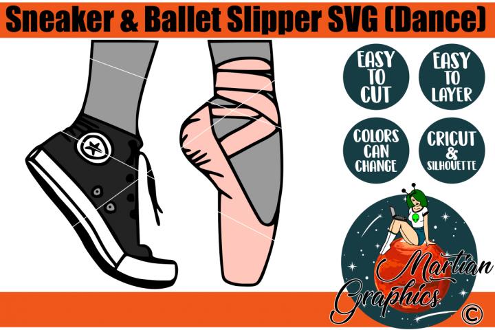 Sneaker & Ballet Slipper SVG Dance
