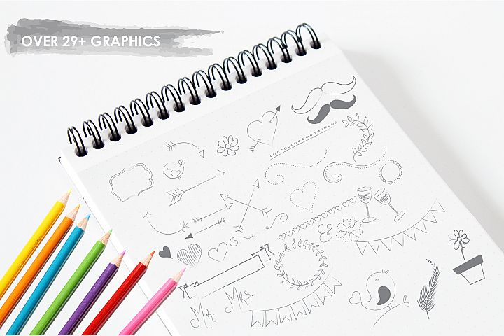 Chalkboard Doodles graphics and illustrations - Free Design of The Week Design 2