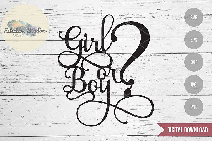 Gender Reveal Cake Topper - Boy or Girl?