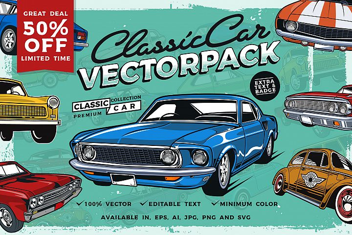 Classic Car Vector Pack