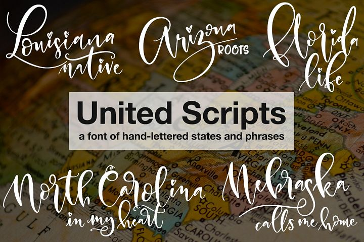 United Scripts - a font of states!