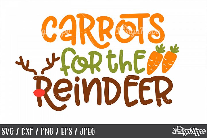Kids Christmas, Carrots For The Reindeer SVG, PNG, Cut Files