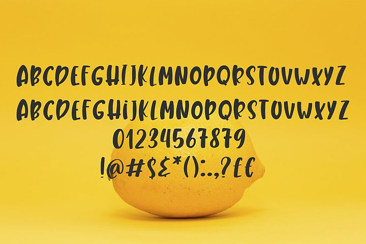 Lemony Cheesecake Font Duo example image 6