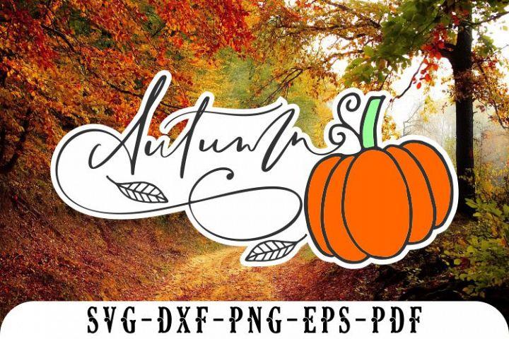 autumn svg pumpkin svg leaf cricut fall cut files dxf png