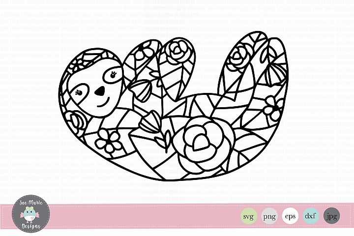 Sloth svg, mandala svg, sloth mandala svg, zentangle svg