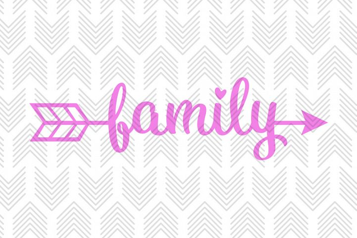 Family Arrow - SVG, AI, EPS, PDF, DXF & PNG FILES