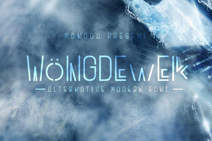 WONGDEWEK Modern Font