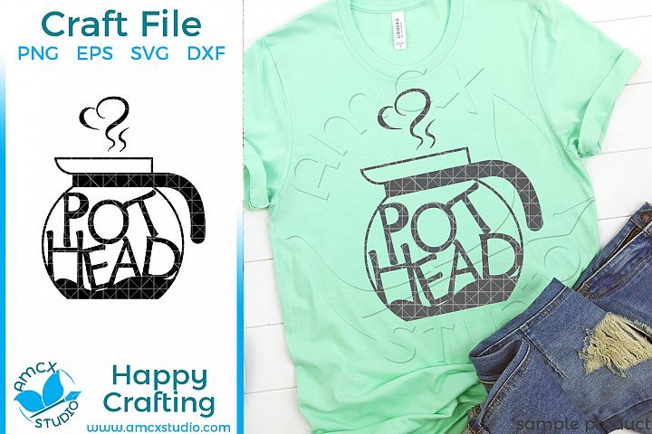 Pot Head Coffee Craft SVG
